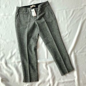 BR Factory Crop Wool Dot Trousers / 6P / NWT